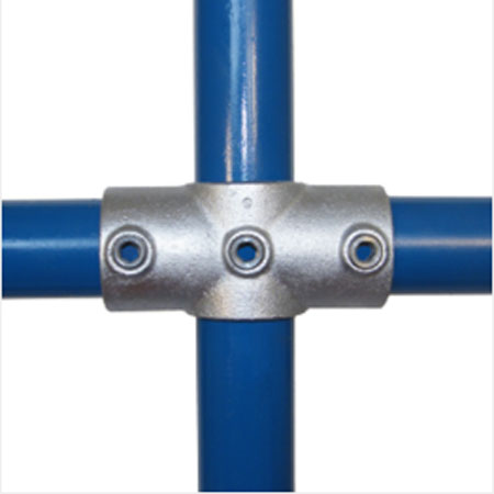 4 way Cross connector for Ultra Galvanised Tube System for 33.7mm tube
