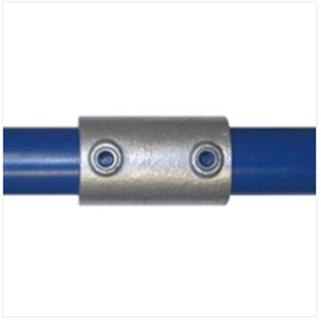 Straight connector for Ultra Galvanised Tube System 33.7mm tube