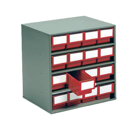1630 - 300mm Deep cabinet with 16 drawers