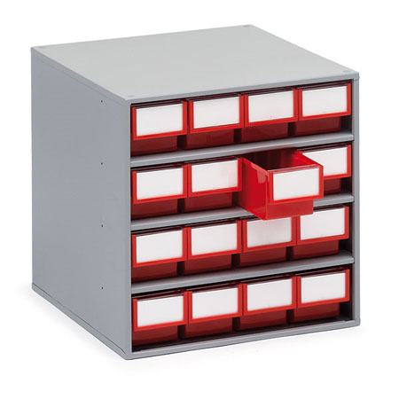 1640 400mm Deep Cabinet With 16 Drawers