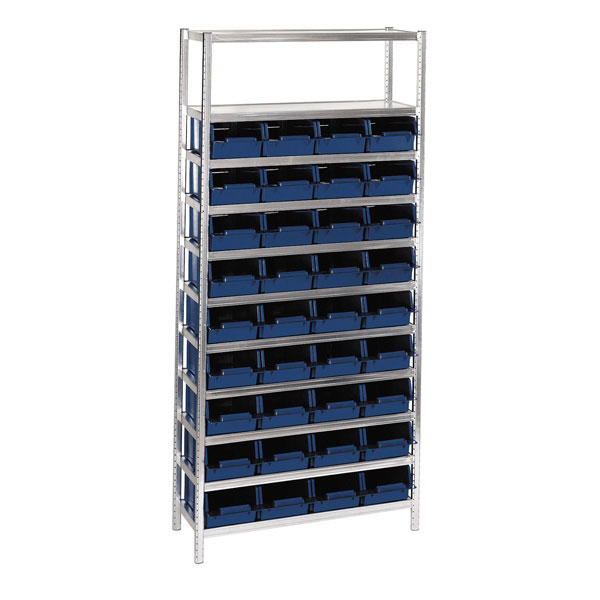 181136 Raaco Shelving Unit complete with boxes 36/31-2 Shelving 6-1100