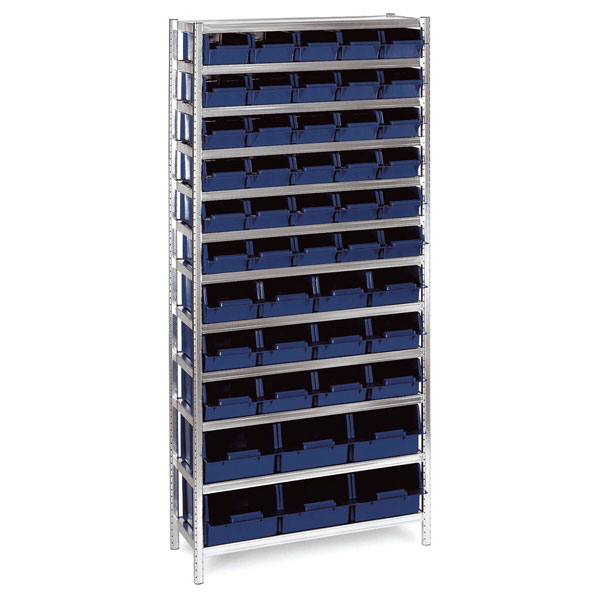 181143 Raaco shelving unit complete with boxes 48/31 Shelving MIX A/31