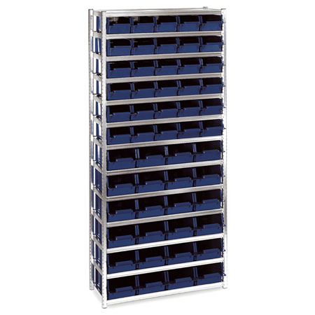 181150 Raaco shelving unit complete with boxes 54/31 Shelving