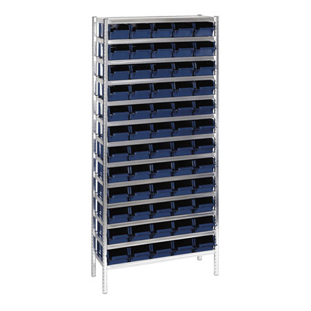 181167 Raaco shelving unit complete with boxers 60/31 Shelving 5-600