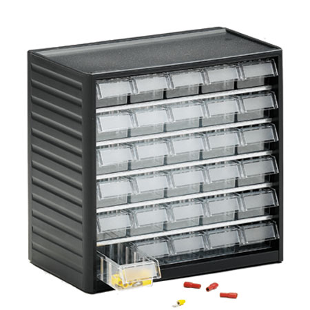290 - 30 drawer visible storage cabinet
