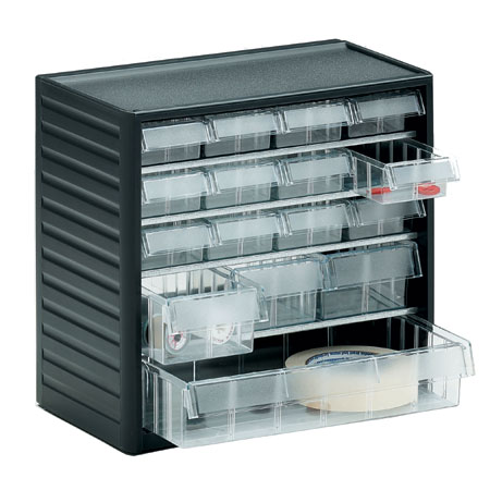 290C - 16 Mixed drawer visible storage cabinet