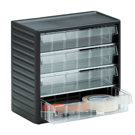 296 - 4 drawer visible storage cabinet