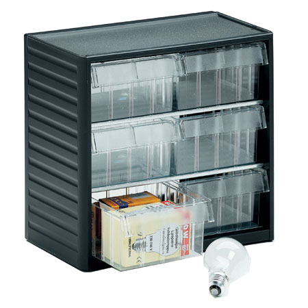 297 - 6 drawer visible storage cabinet