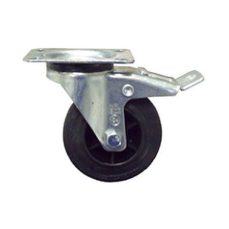 2BS - 100mm Diameter Rubber Tyre Braked Swivel Castor