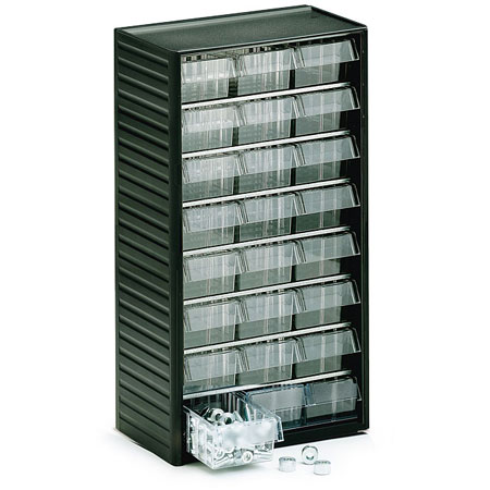 554 - 24 drawer visible storage cabinet