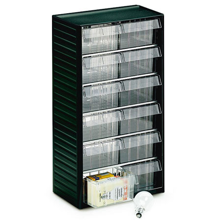 557 - 12 drawer visible storage cabinet