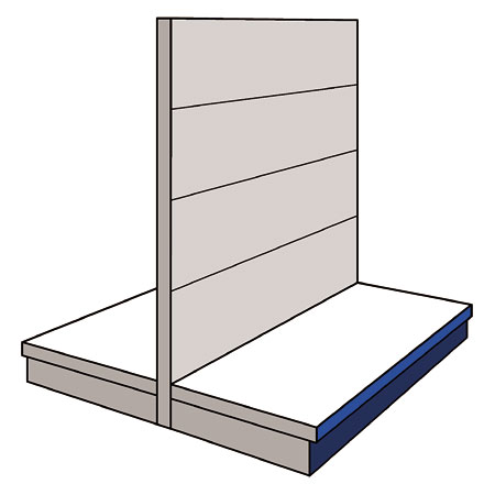 A01GD - AMX35 Shop Display Shelving Double Sided Gondola