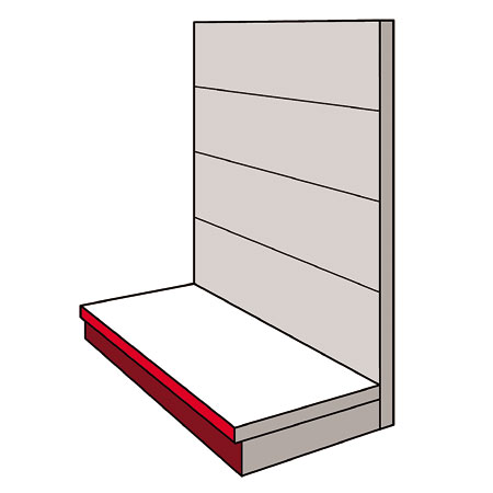 A01GS - AMX35 Shop Display Shelving Single Sided Gondola