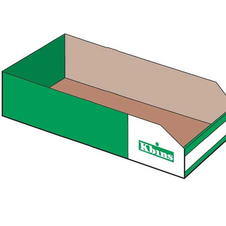 PKA6020 K Bin Cardboard Parts Storage Box 600mm x 200mm