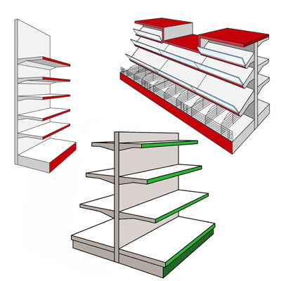 AMX35 Shop Display Shelving