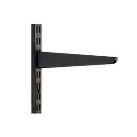 Wall Mounted Twin Slot Shelving Black