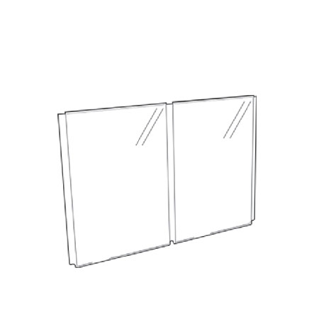Twin A4 Pocket Acrylic Poster Holder for Cable window display