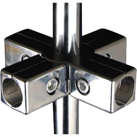 CHT6W32 Chrome Tube 6 Way Joint for 32mm diameter chrome tube