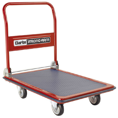 CPF200 - Folding handle 4 wheel platform trolley with 125mm wheels 300kg loading