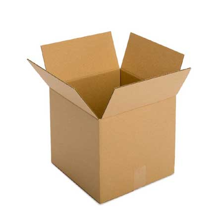 Pack of 5 cardboard packing boxes 450mm x 450mm x 450mm high