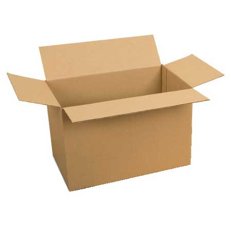 Pack of 5 cardboard packing boxes 750mm x 450mm x 450mm high