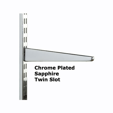 Wall Mounted Twin Slot Shelving Chrome