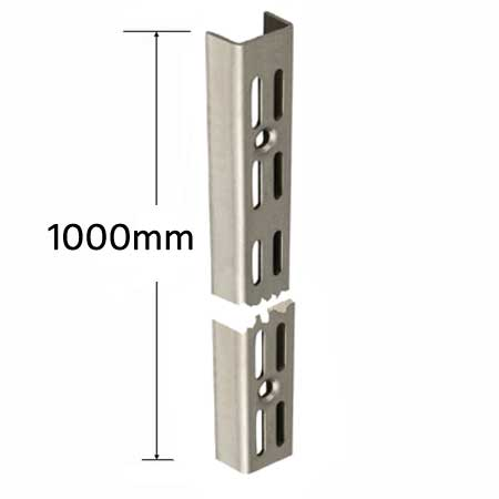 DU1000SS Sapphire Twin Slot Wall Mounted Shelving Upright 1000mm Stainless Steel