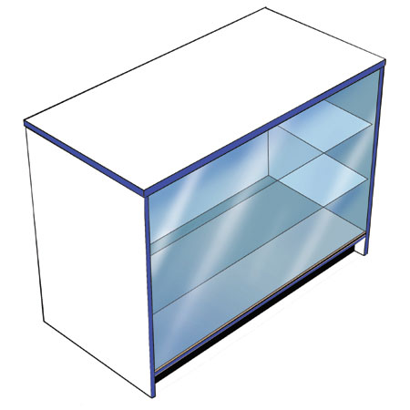 GC1F / FULL GLASS DISPLAY COUNTER