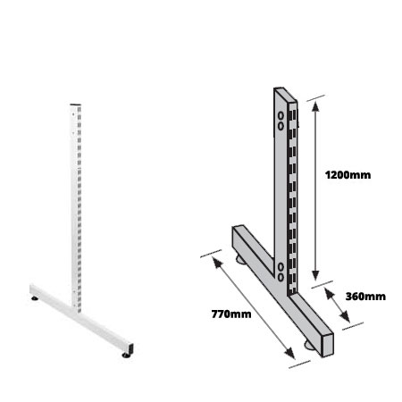 Twin Slot Free Standing