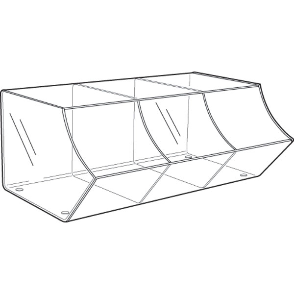 PM9710 3 OPEN ACRYLIC SECTIONS PICK & MIX UNIT