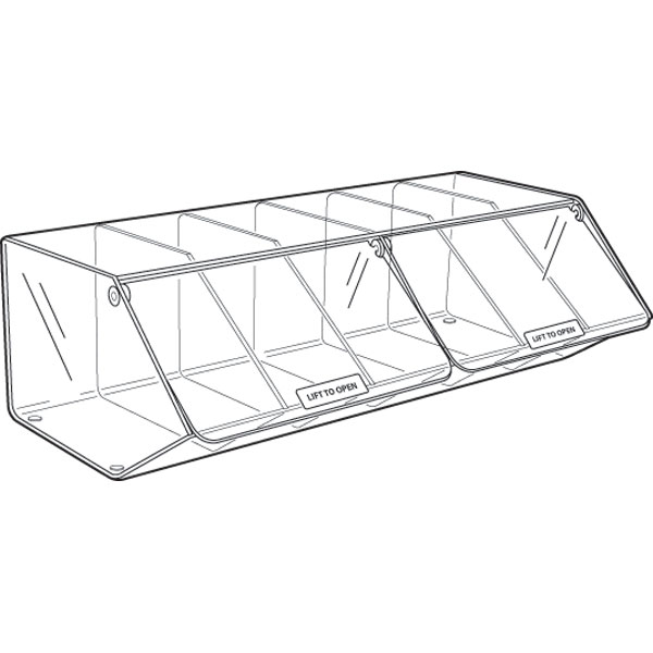 PM9725 6 ACRYLIC COMPARTMENTS WITH 2 LIDS PICK & MIX UNIT