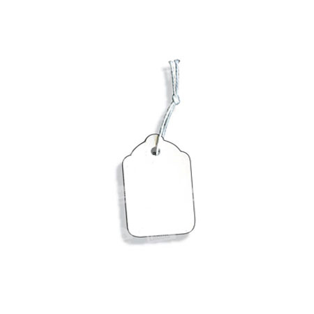 PST22 - White Swing Tickets - Pack of 100 15 x 24mm