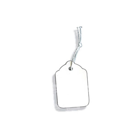 PST23 - White Swing Tickets - Pack of 100 - 18 x 29mm