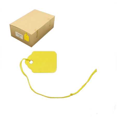 PST24C - Yellow Swing Tickets - Pack of 100 - 18 x 29mm