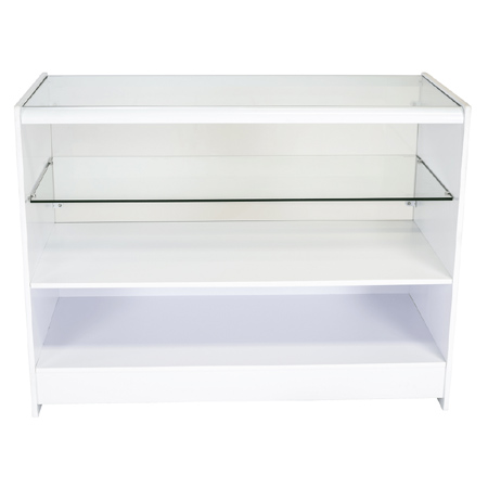 R1505 1/2 Glass White Flat Pack Counter