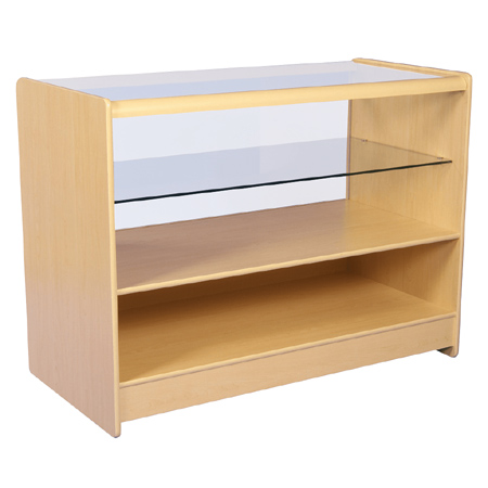 R1506 1/2 Glass Maple Flat Pack Counter