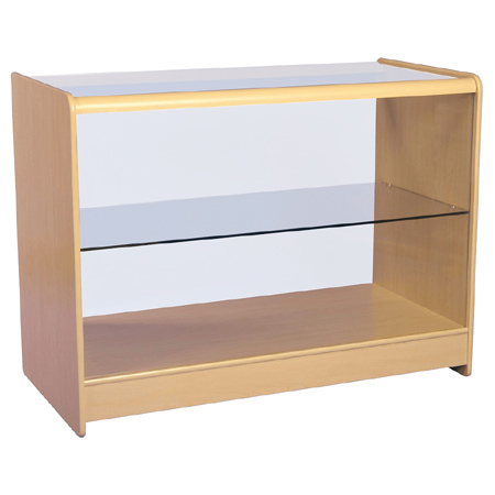 R1514 Full Glass Counter Maple Flat Pack