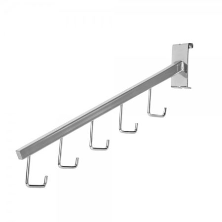 R422 - Five Hook Waterfall Arm for Grid Wall Panels