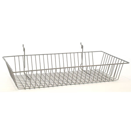 R524 Chrome Basket 600 x 300 x 100mm for Slat Wall / Gridwall