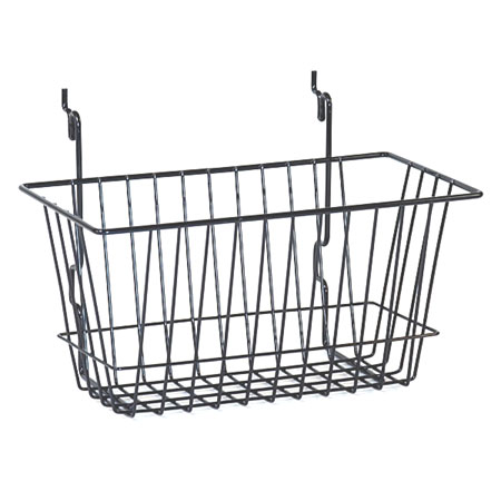 R525 Chrome Basket 300 x 150 x 150mm for Slat Wall / Gridwall