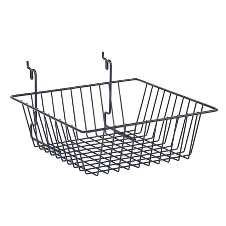 R526 Chrome Basket 300 x 300 x 100mm for Slat Wall / Gridwall