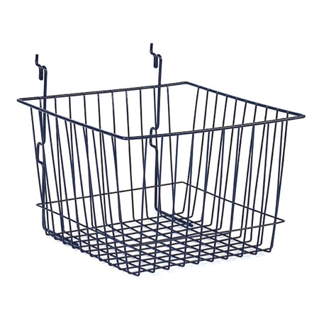 R527 Chrome Basket 300 x 300 x 200mm for Slat Wall / Gridwall