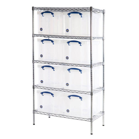 Really Useful Boxes Chrome Wire Storage Shelves 8 x 35 Litres 1525 x 915 x 455mm (HxWxD)