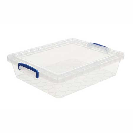 10.5 Litre Nestable Really Useful Box Clear