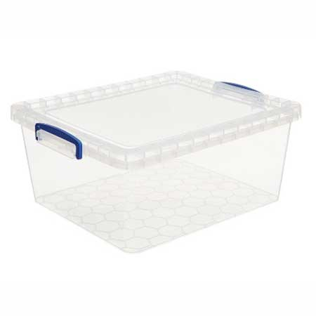 17.5 Litre clear really useful storage box nestable