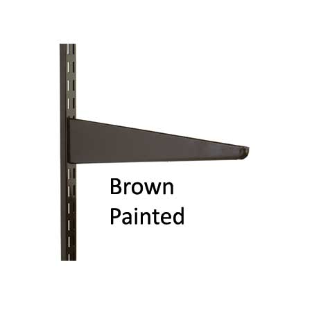 Wall Mounted Twin Slot Shelving Brown