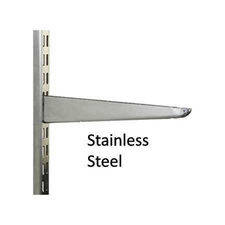 Wall Mounted Twin Slot Shelving Stainless Steel