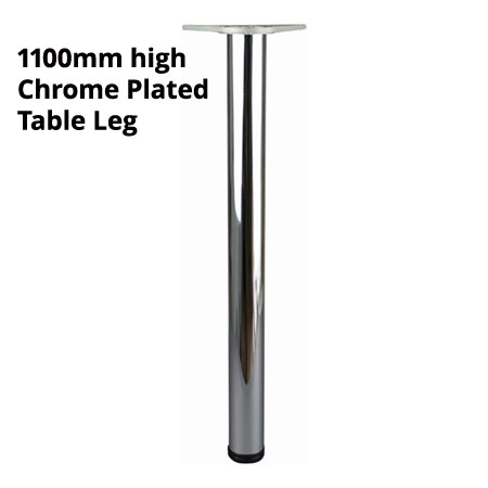 1100mm high Chrome plated finish adjustable table leg