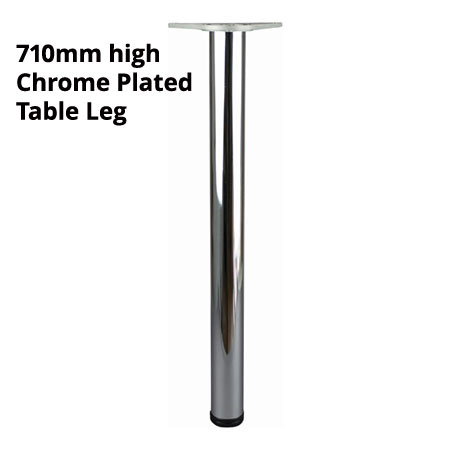 710mm high Chrome plated finish adjustable table leg