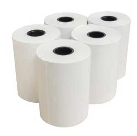TR4480P - box of 40 x 44mm x 80mm diameter plain paper till rolls
